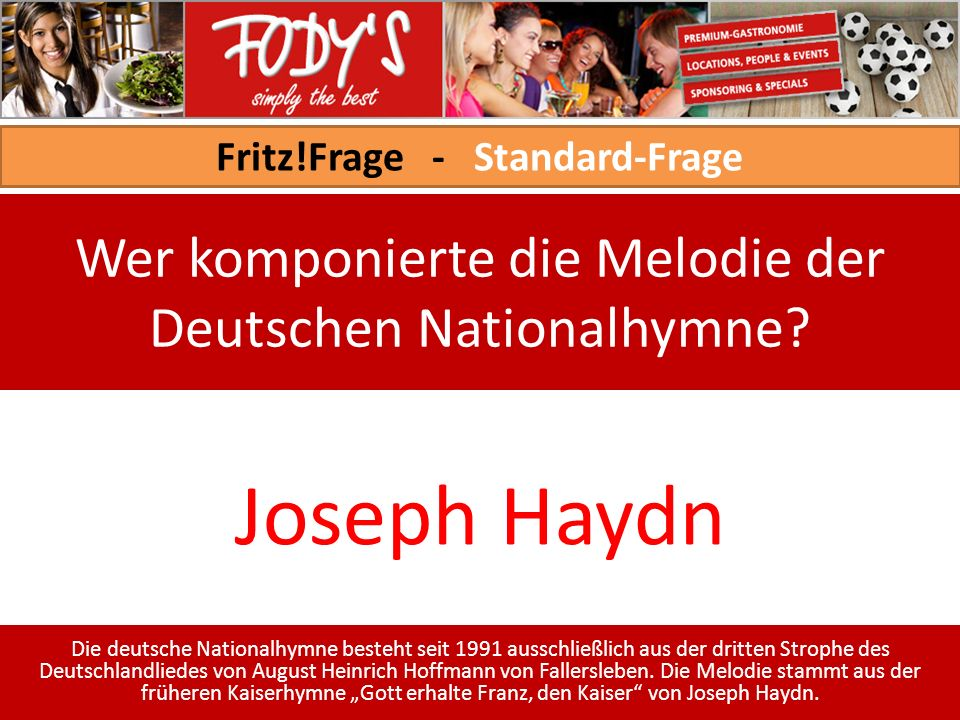 Fritz!Frage - Standard-Frage