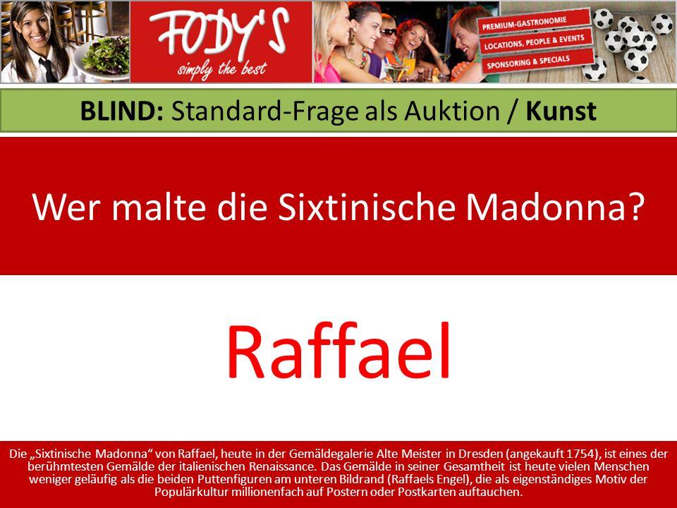 BLIND: Standard-Frage als Auktion / Kunst