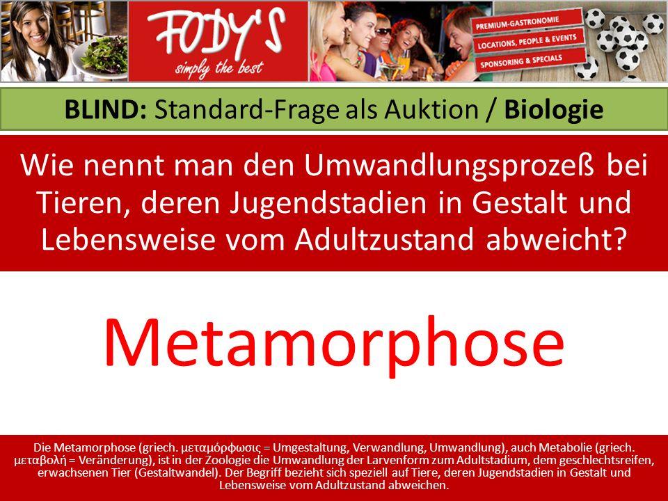 BLIND: Standard-Frage als Auktion / Biologie