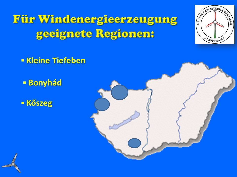 Für Windenergieerzeugung
