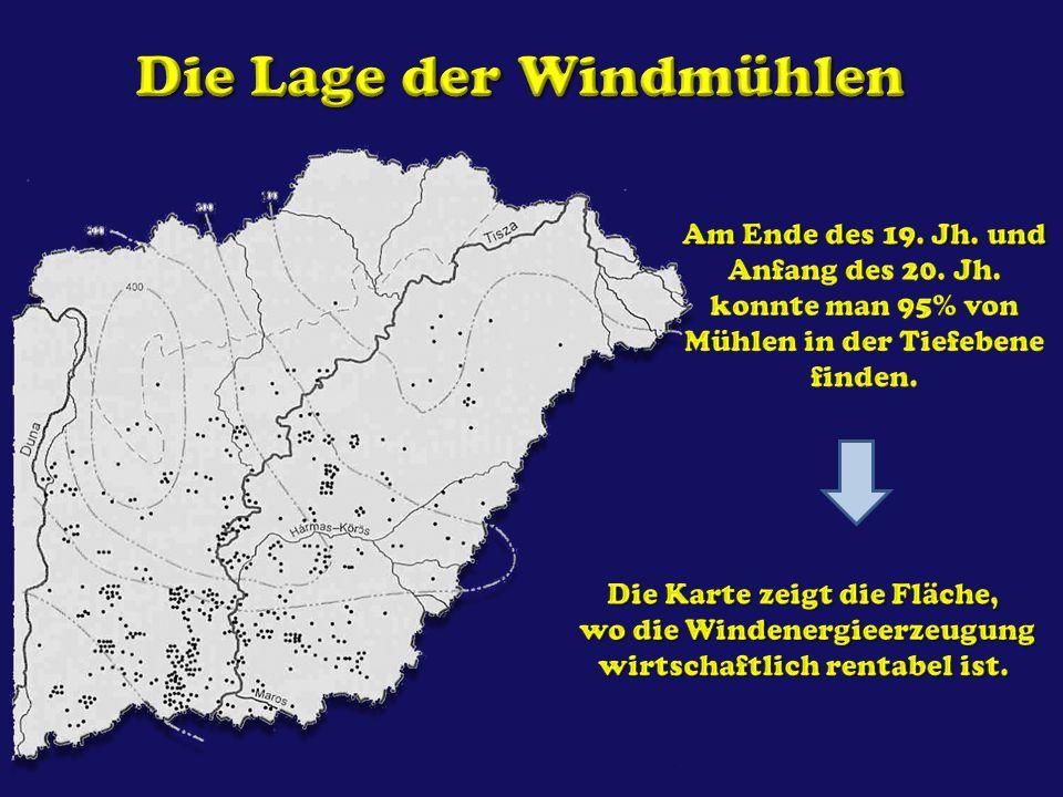 Die Lage der Windmühlen