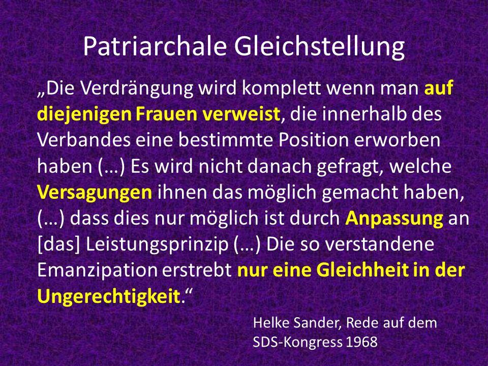 Patriarchale Gleichstellung
