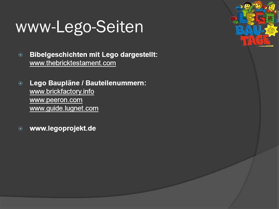 www-Lego-Seiten Bibelgeschichten mit Lego dargestellt: www.thebricktestament.com.