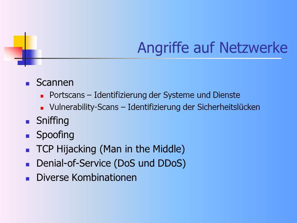 Angriffe auf Netzwerke