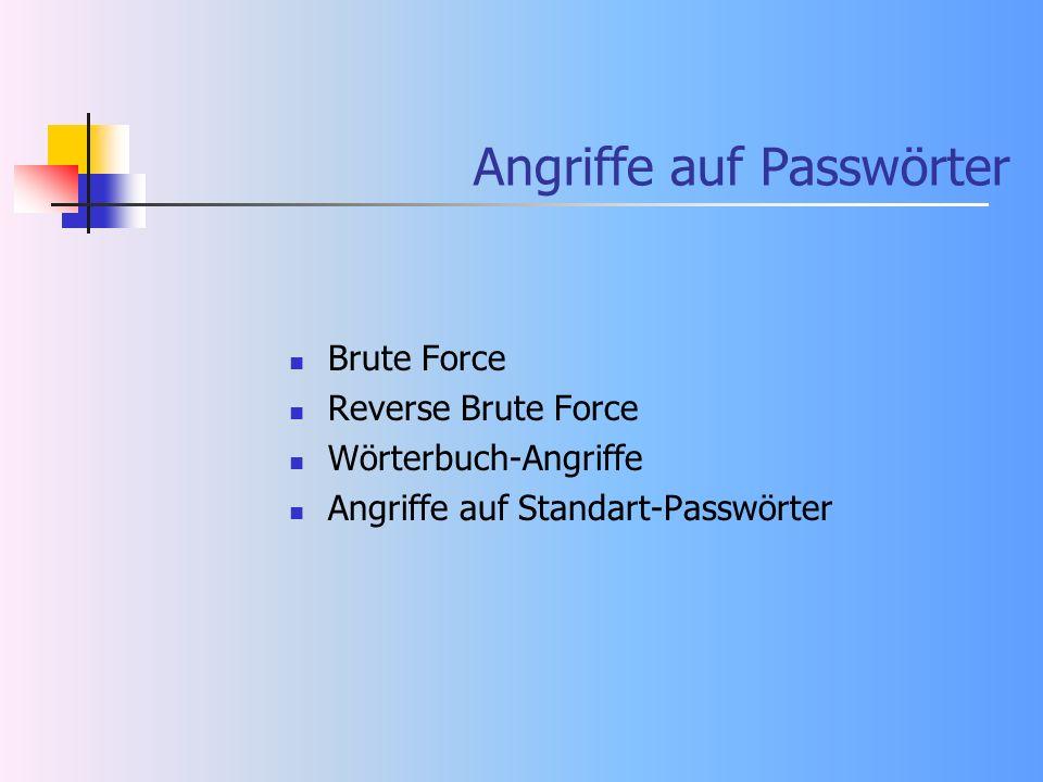 Angriffe auf Passwörter