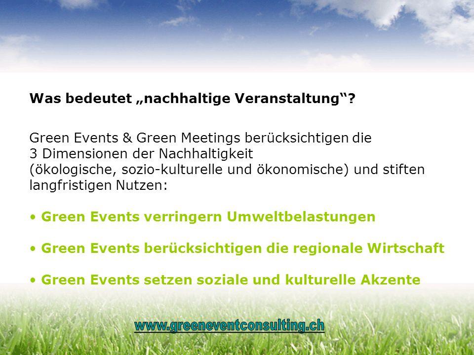 """Was bedeutet """"nachhaltige Veranstaltung"""