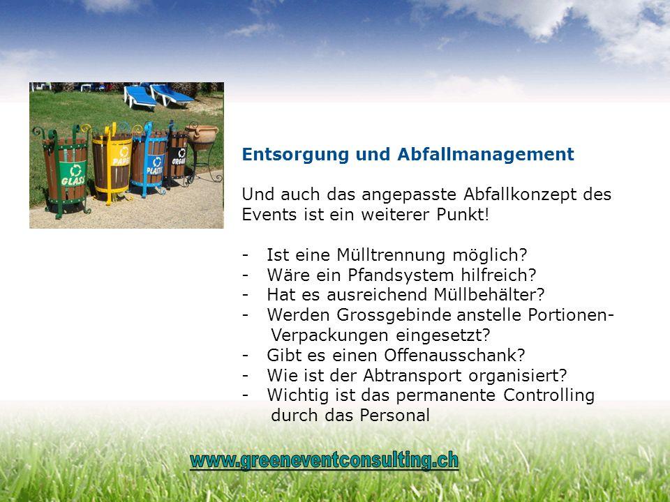 Entsorgung und Abfallmanagement