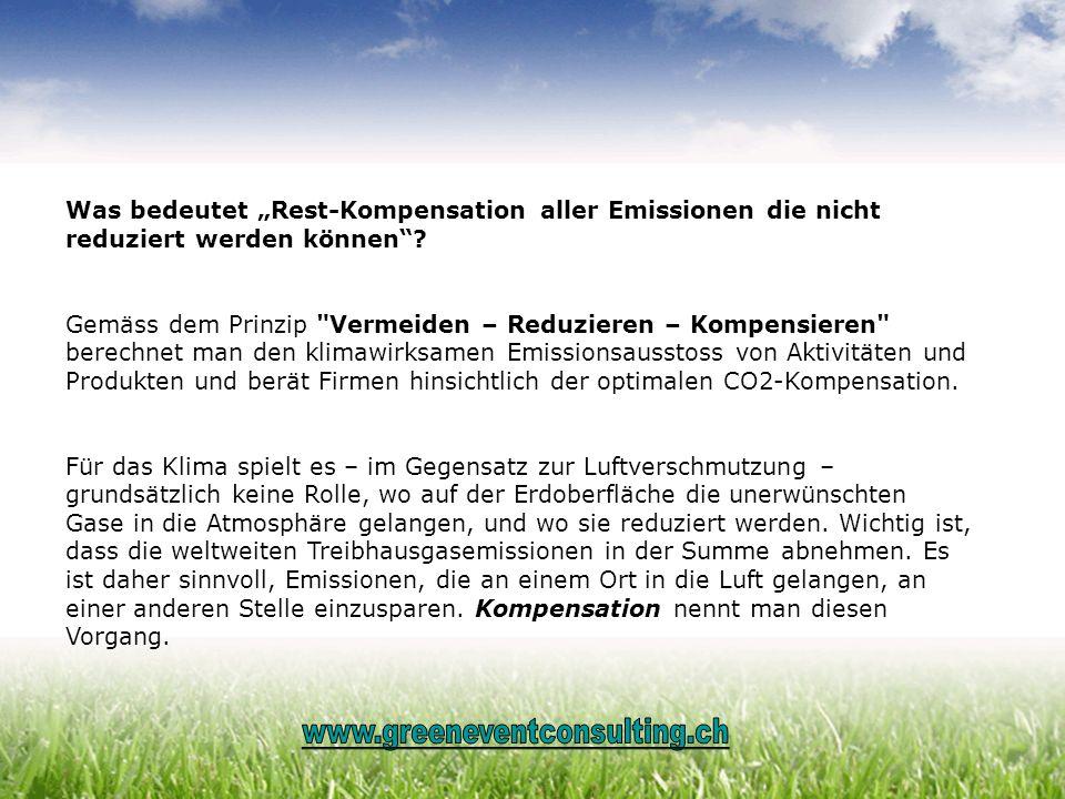 """Was bedeutet """"Rest-Kompensation aller Emissionen die nicht reduziert werden können"""