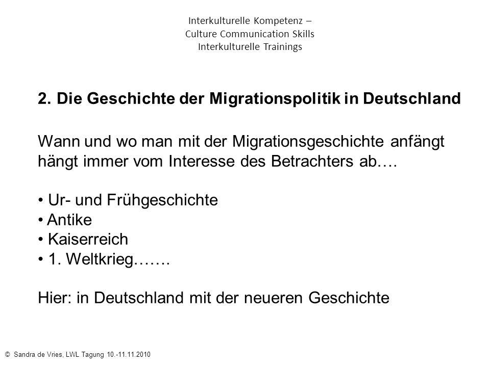 2. Die Geschichte der Migrationspolitik in Deutschland
