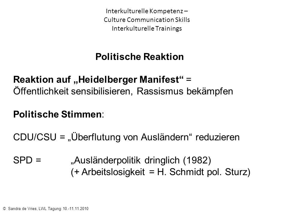 """Reaktion auf """"Heidelberger Manifest ="""