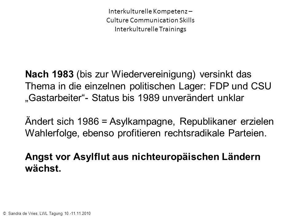 """""""Gastarbeiter - Status bis 1989 unverändert unklar"""