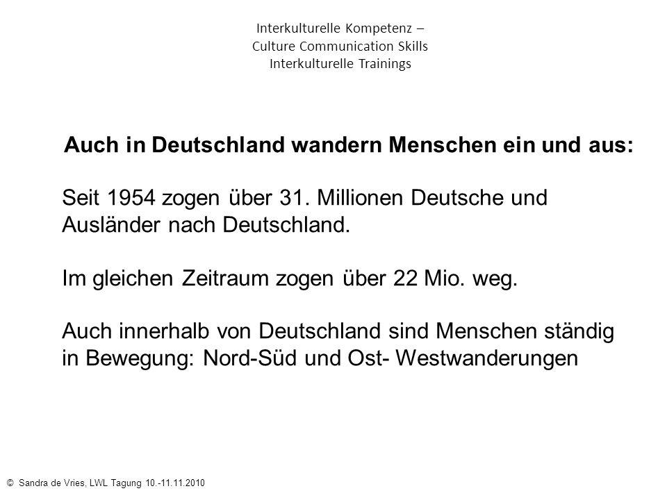 Auch in Deutschland wandern Menschen ein und aus: