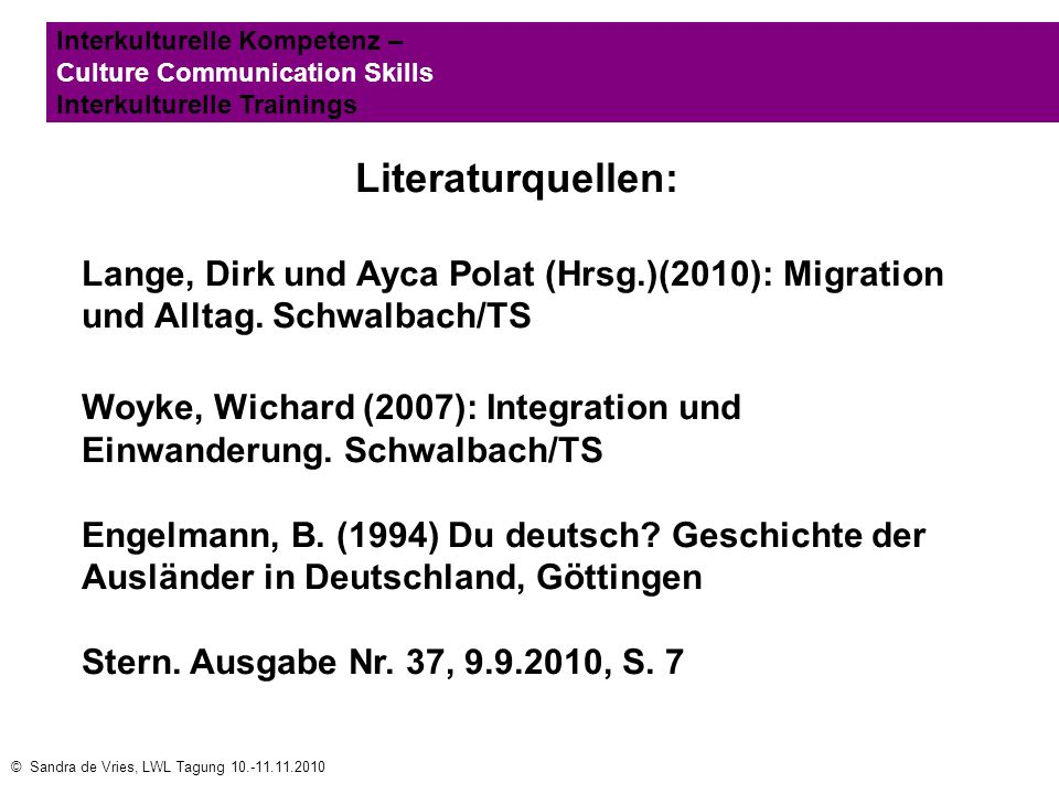 Interkulturelle Kompetenz – Culture Communication Skills Interkulturelle Trainings