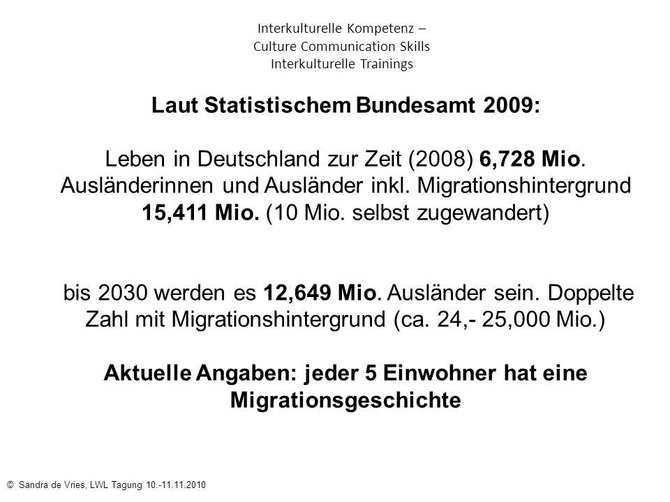 Laut Statistischem Bundesamt 2009: