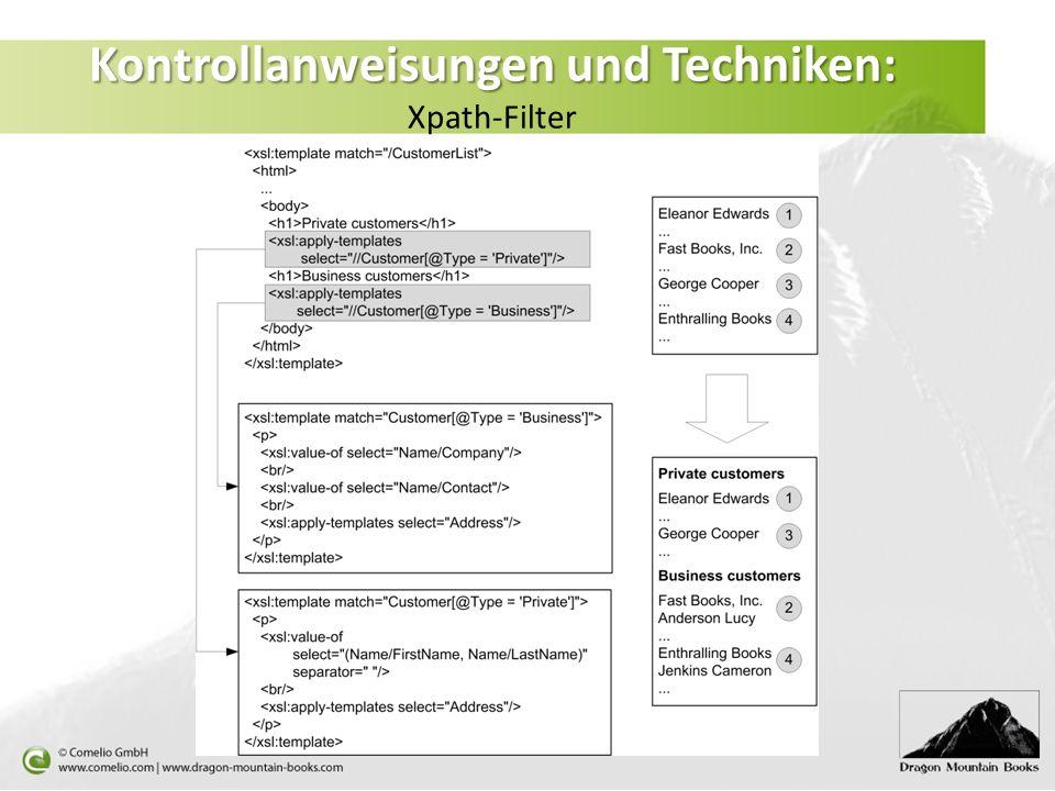 Kontrollanweisungen und Techniken: Xpath-Filter