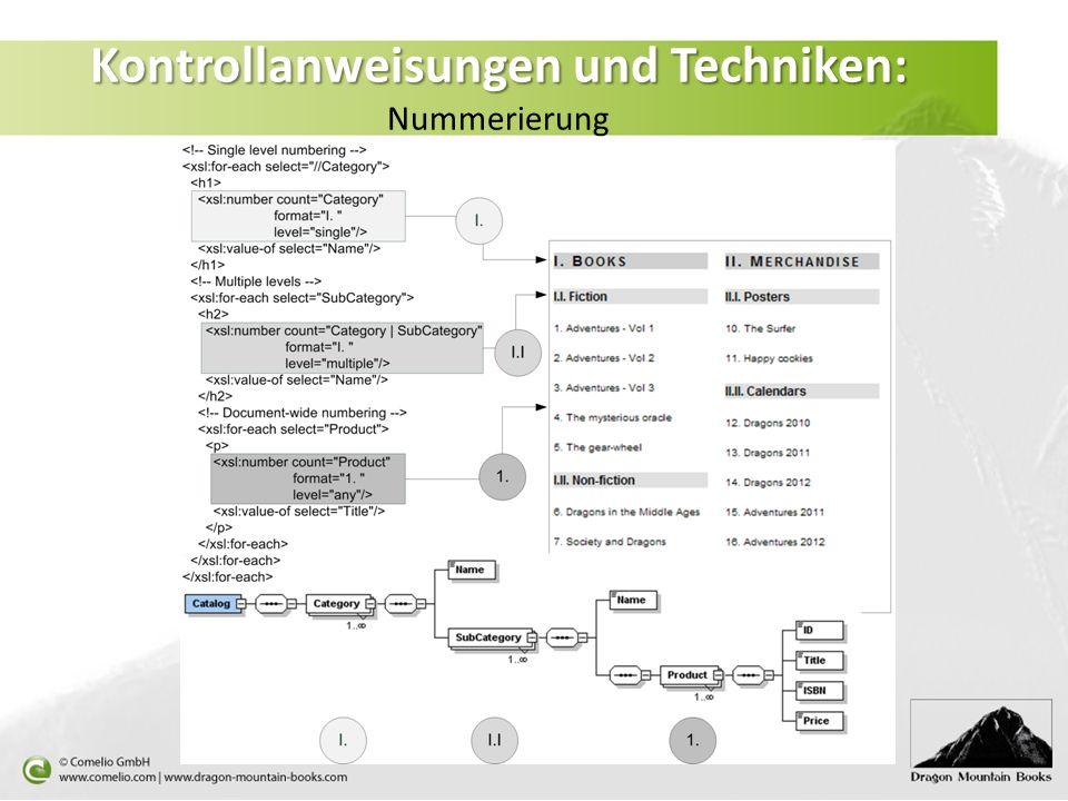 Kontrollanweisungen und Techniken: Nummerierung