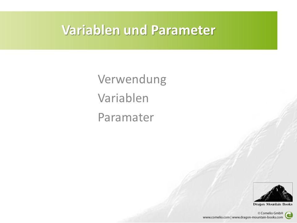 Variablen und Parameter