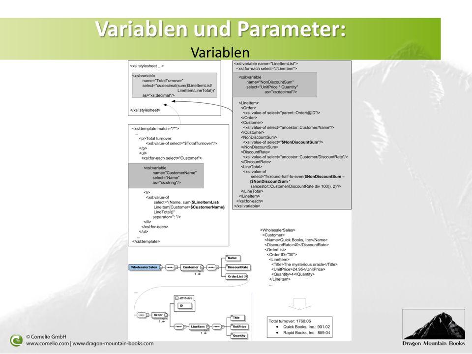 Variablen und Parameter: Variablen