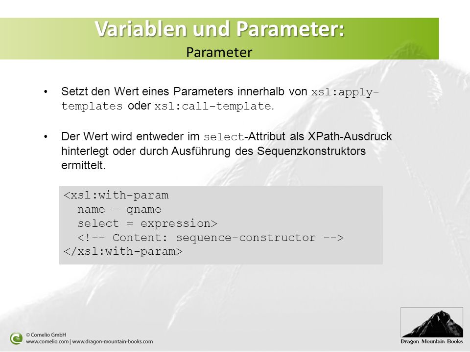 Variablen und Parameter: Parameter