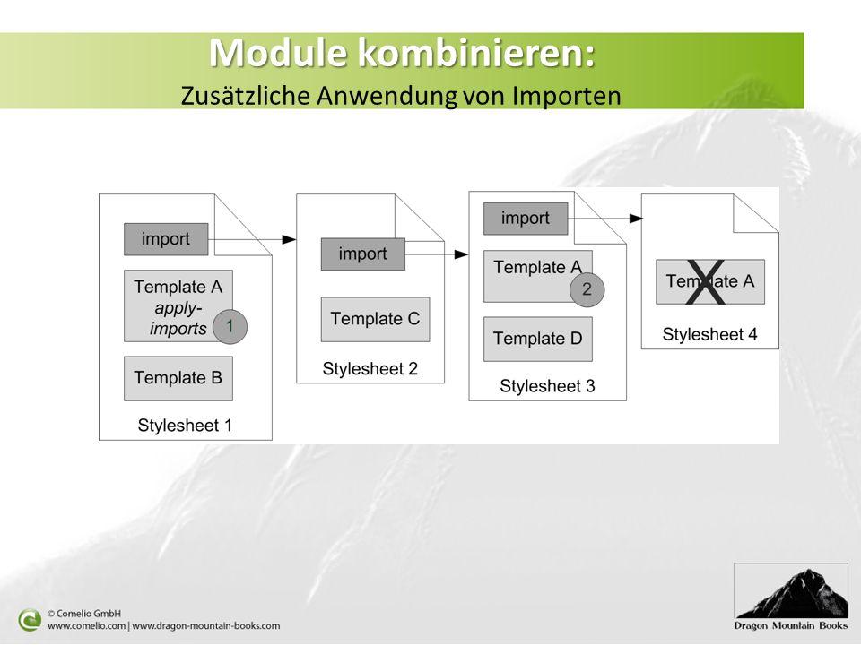 Module kombinieren: Zusätzliche Anwendung von Importen