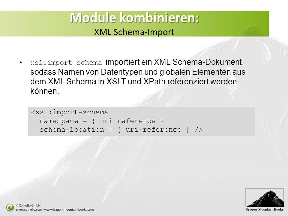 Module kombinieren: XML Schema-Import