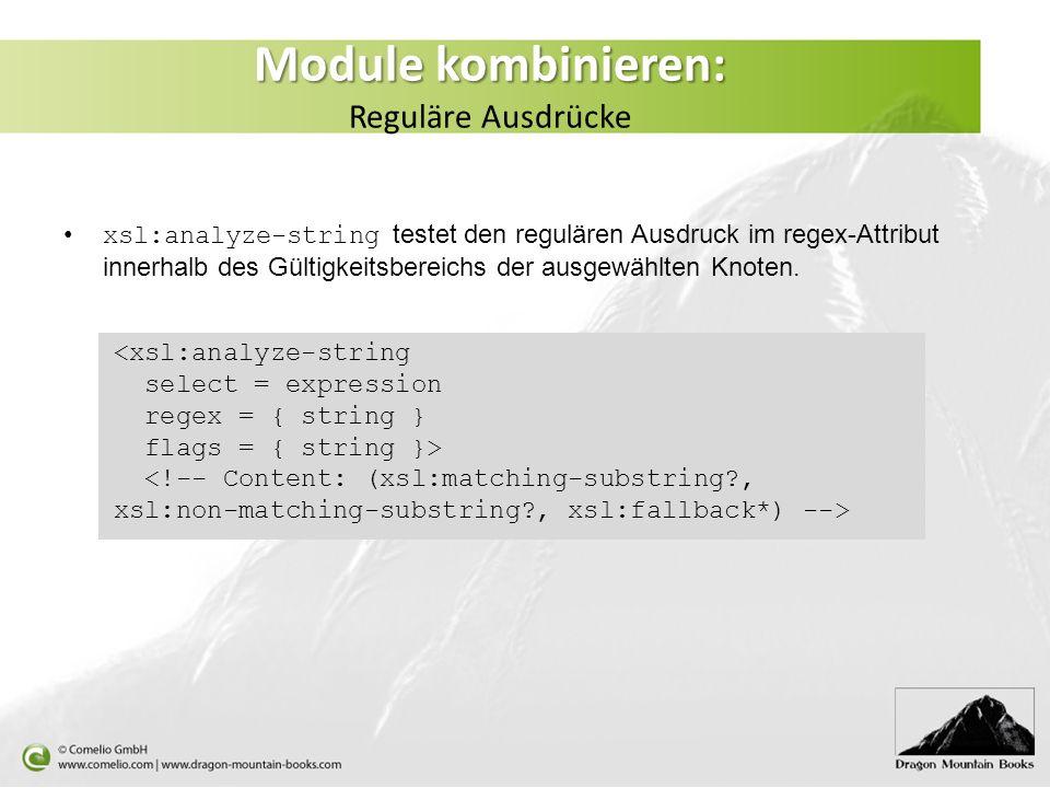 Module kombinieren: Reguläre Ausdrücke