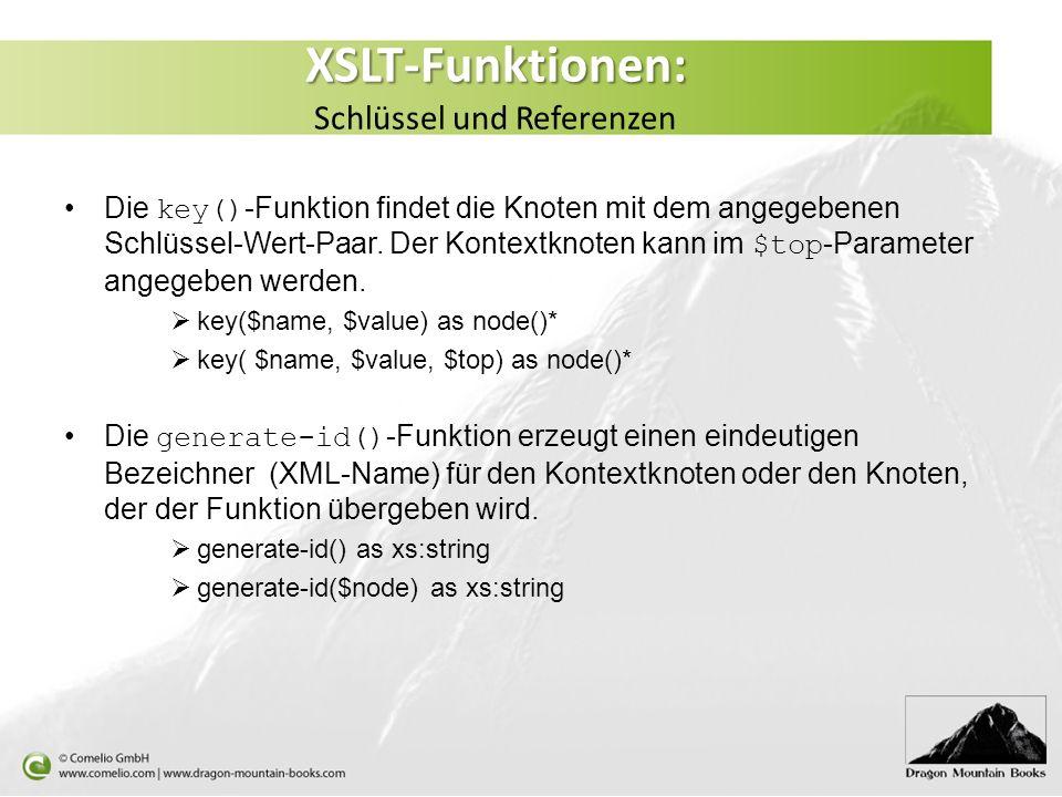XSLT-Funktionen: Schlüssel und Referenzen