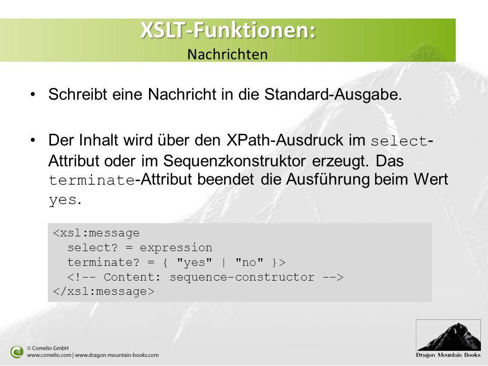 XSLT-Funktionen: Nachrichten