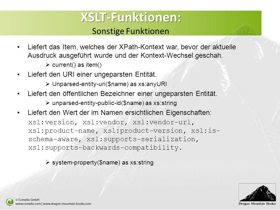 XSLT-Funktionen: Sonstige Funktionen