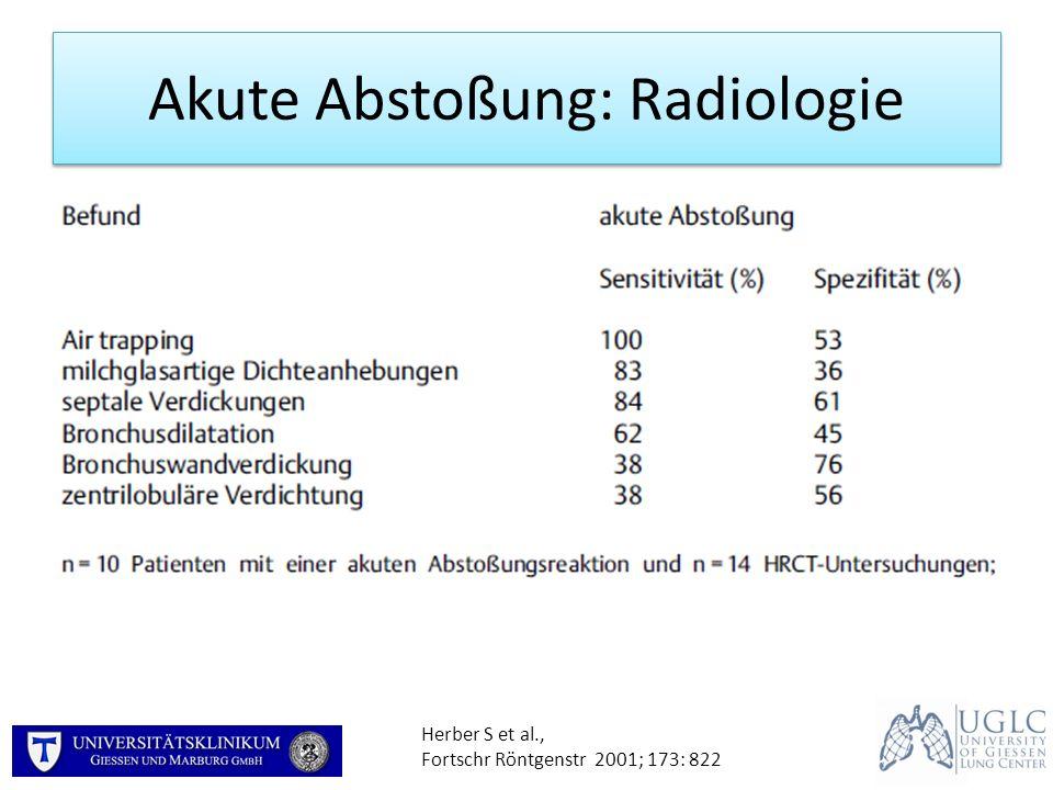 Akute Abstoßung: Radiologie