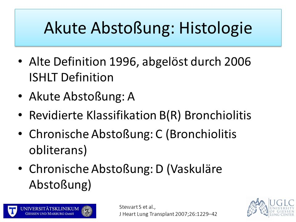 Akute Abstoßung: Histologie