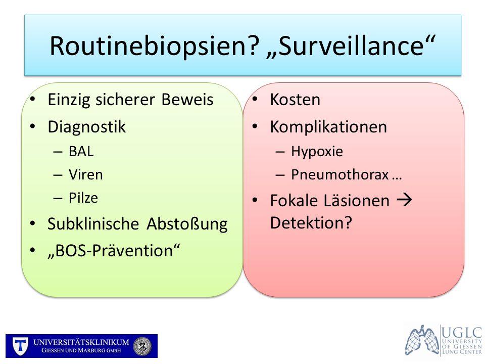 """Routinebiopsien """"Surveillance"""