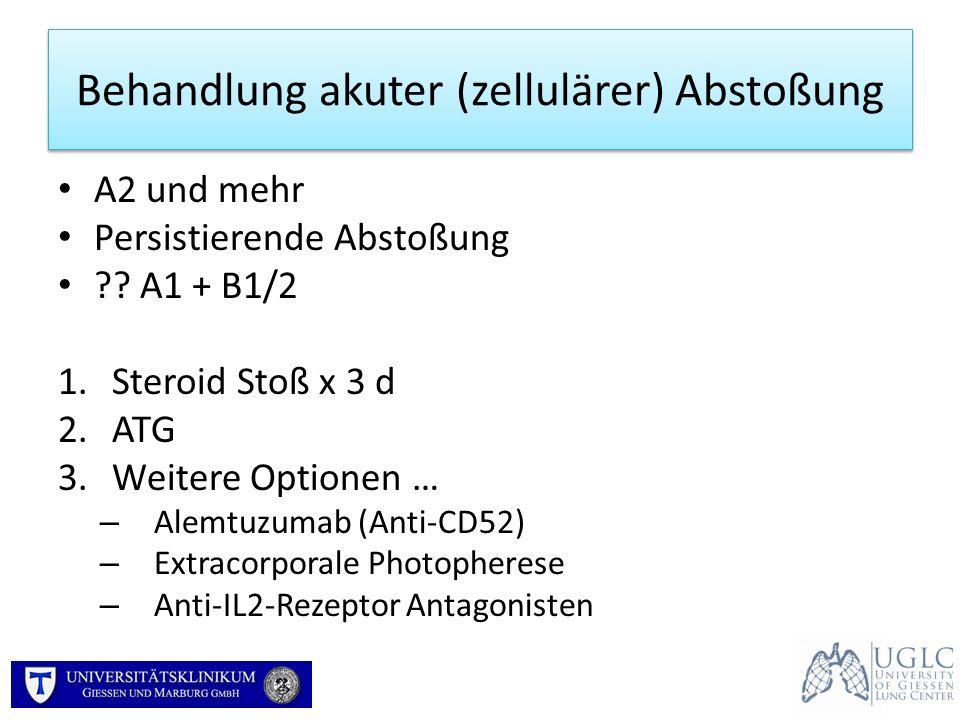 Behandlung akuter (zellulärer) Abstoßung