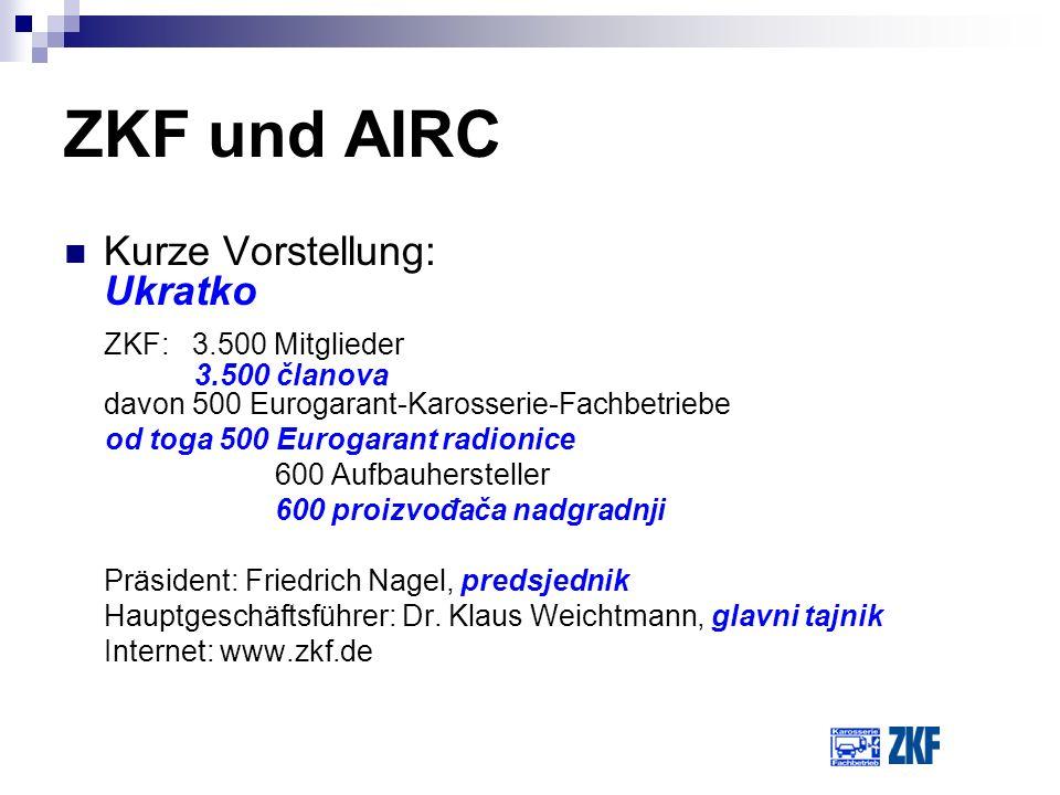 ZKF und AIRC Kurze Vorstellung: Ukratko