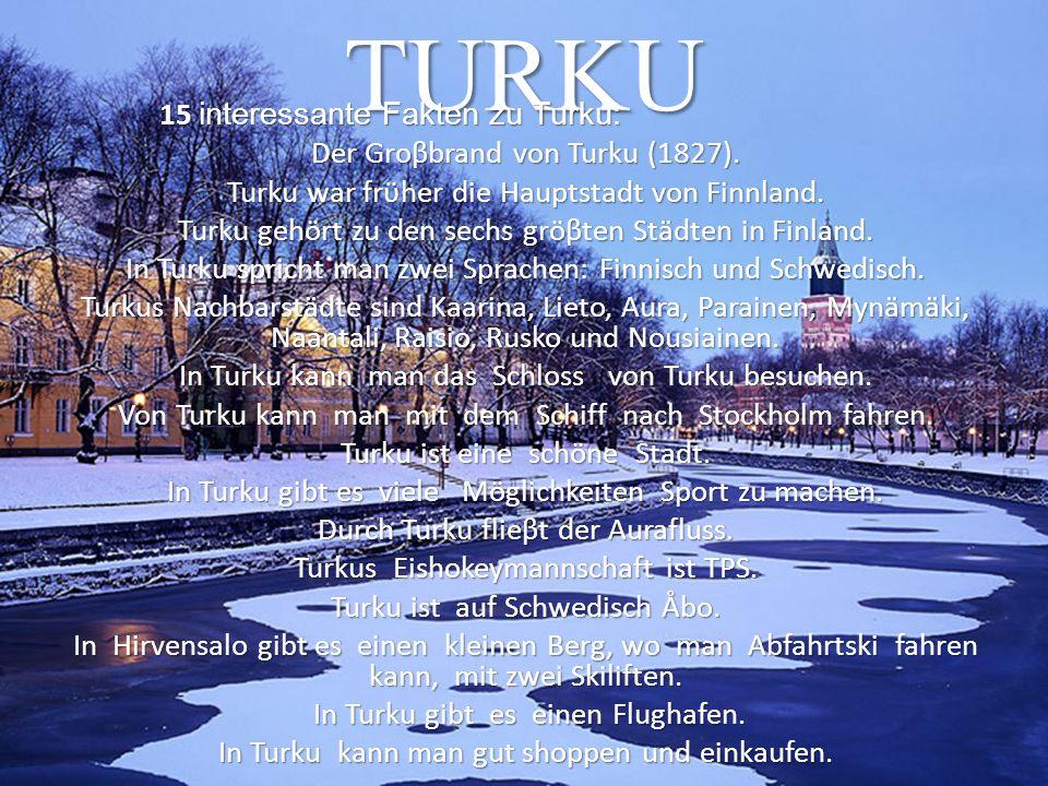 TURKU 15 interessante Fakten zu Turku: Der Groβbrand von Turku (1827).