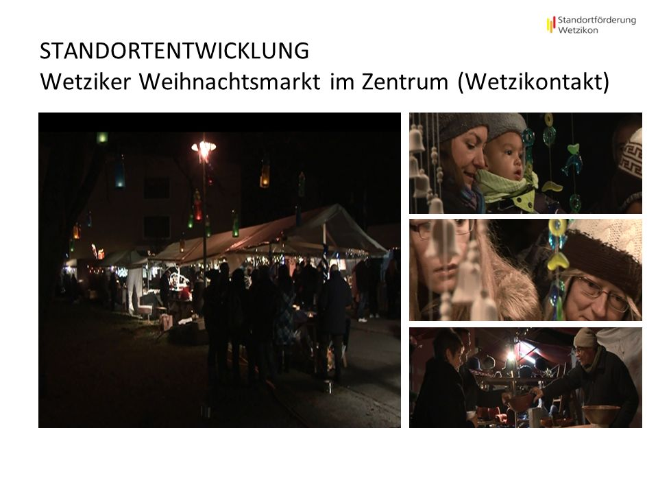 STANDORTENTWICKLUNG Wetziker Weihnachtsmarkt im Zentrum (Wetzikontakt)