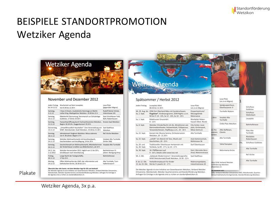 Beispiele StandortPROMOTION Wetziker Agenda