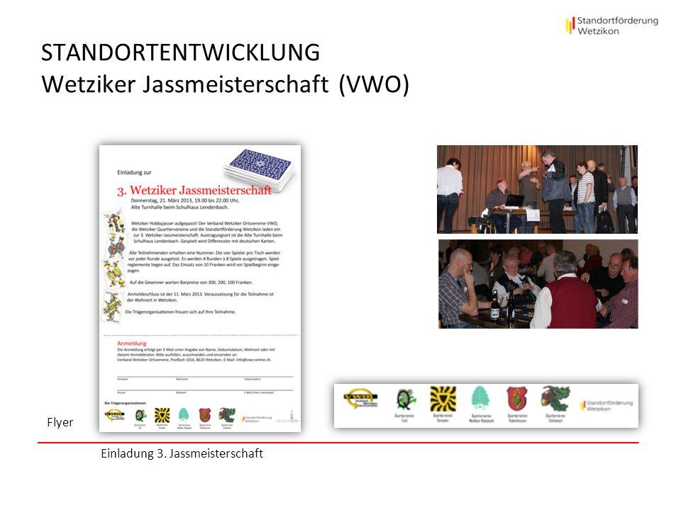 STANDORTENTWICKLUNG Wetziker Jassmeisterschaft (VWO)