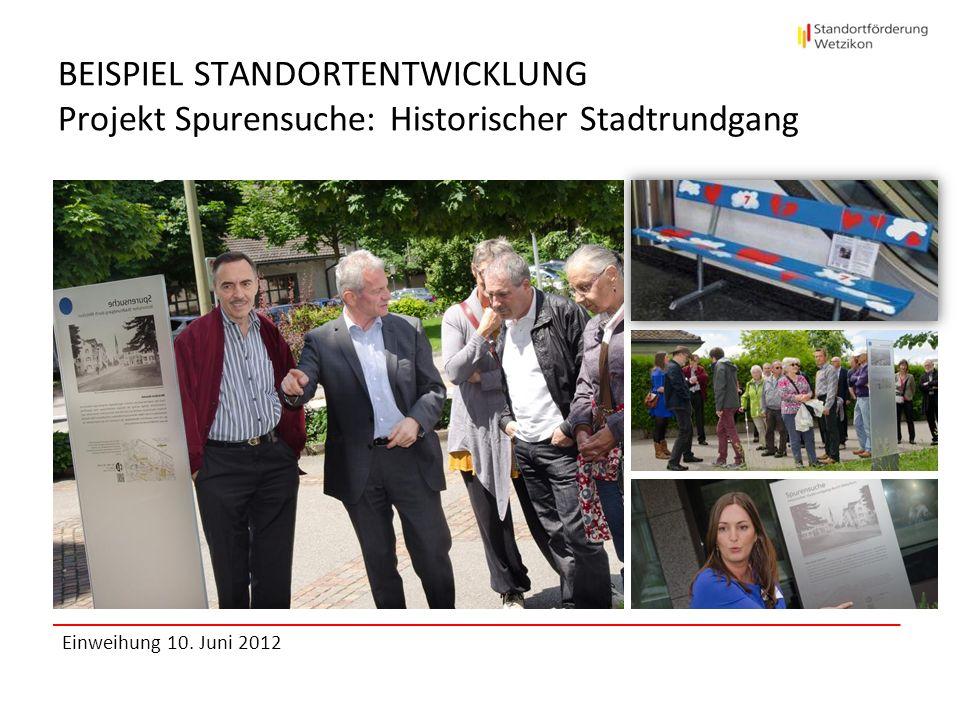 BEISPIEL STANDORTENTWICKLUNG Projekt Spurensuche: Historischer Stadtrundgang