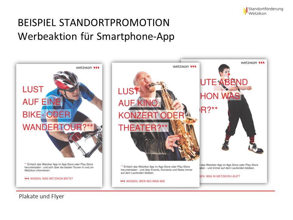 BEISPIEL STANDORTPROMOTION Werbeaktion für Smartphone-App