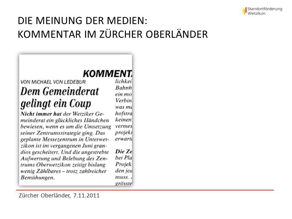 Die Meinung der Medien: KOMMENTAR IM ZÜRCHER OBERLÄNDER