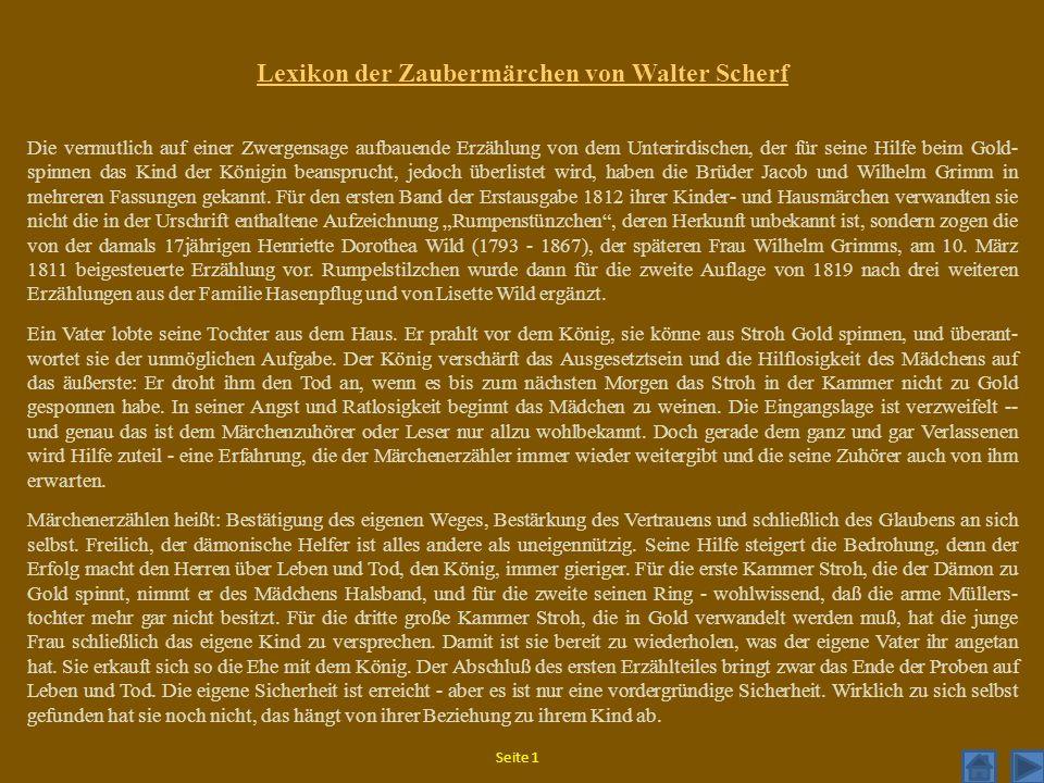 Lexikon der Zaubermärchen von Walter Scherf