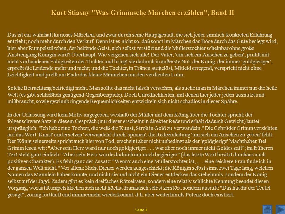 Kurt Stiasny Was Grimmsche Märchen erzählen , Band II
