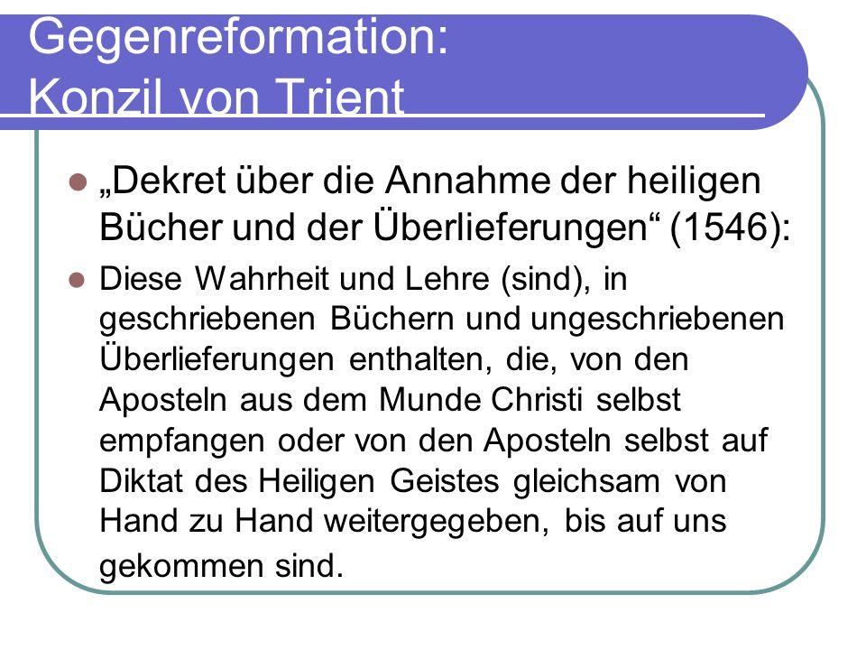 Gegenreformation: Konzil von Trient