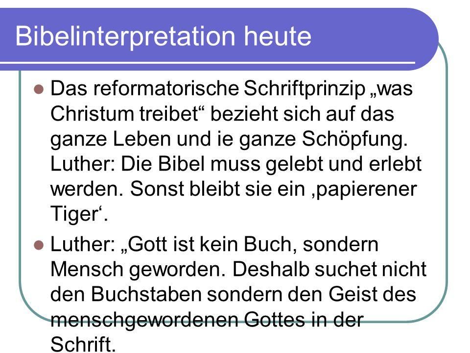 Bibelinterpretation heute