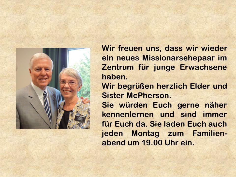 Wir freuen uns, dass wir wieder ein neues Missionarsehepaar im Zentrum für junge Erwachsene haben.