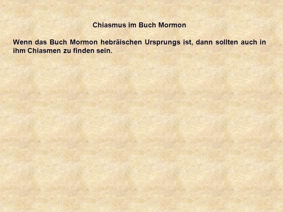 Chiasmus im Buch Mormon