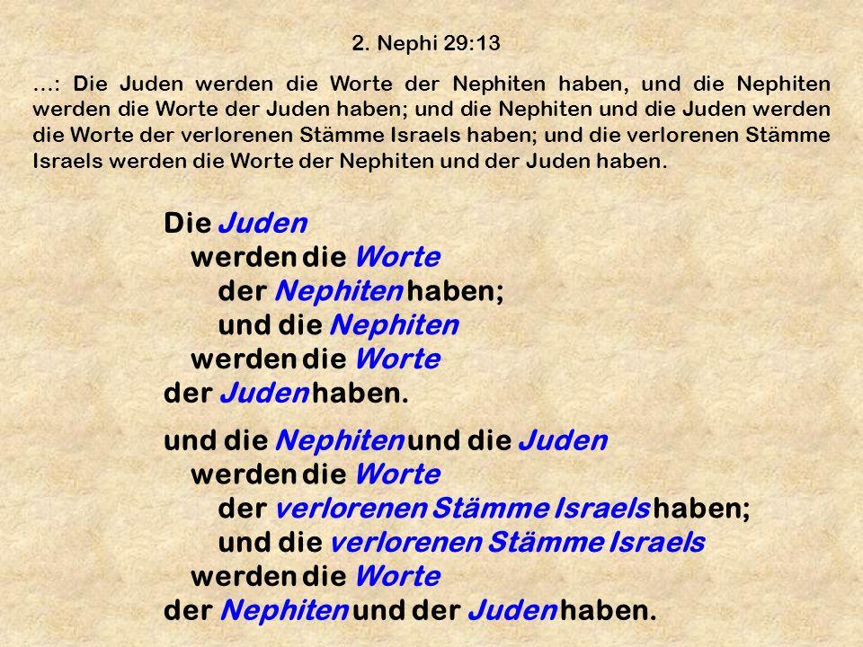 und die Nephiten und die Juden werden die Worte