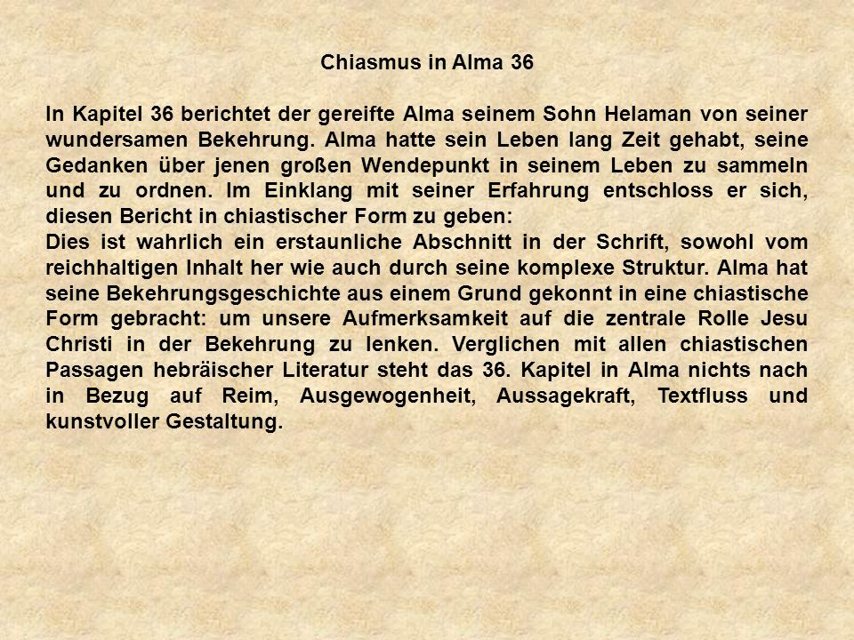 a Chiasmus in Alma 36.