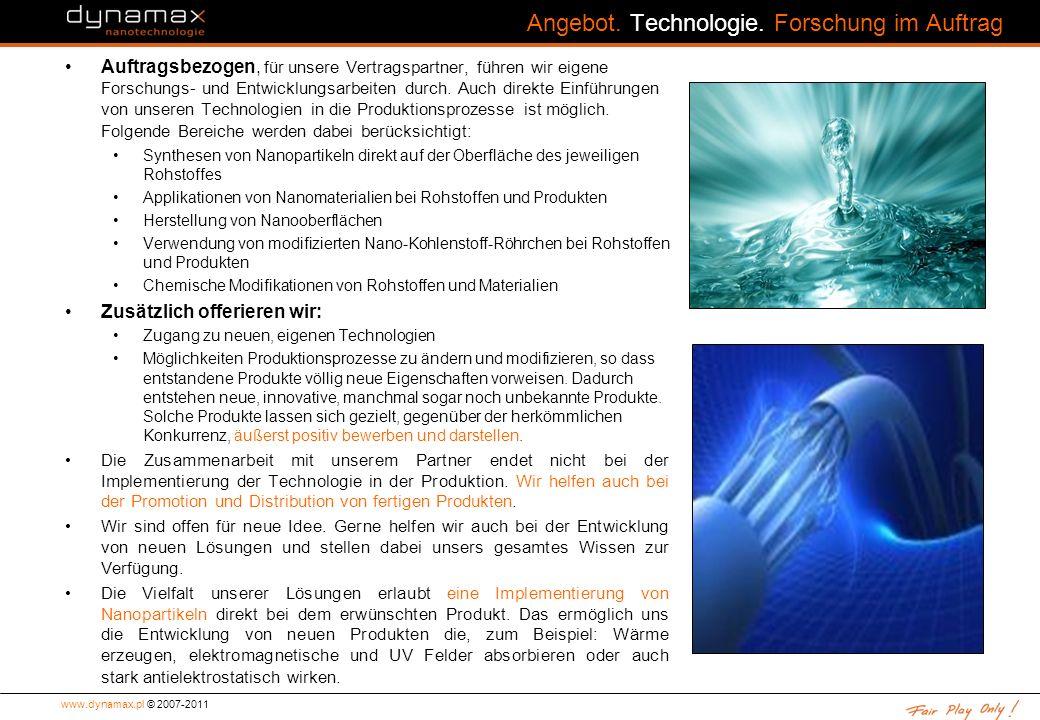 Angebot. Technologie. Forschung im Auftrag
